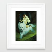 mononoke Framed Art Prints featuring Mononoke by Lu Nascimento