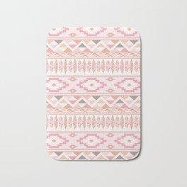 Pink Boho Tribal Aztec Bath Mat