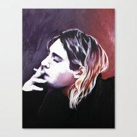 kurt rahn Canvas Prints featuring Kurt by Katie Rosealea
