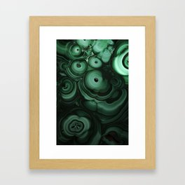 Curls and patterns of malachite Framed Art Print