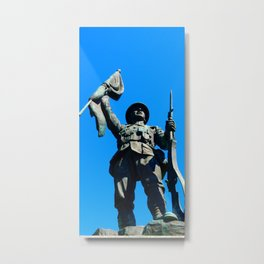 Statue Honoring Soldiers from WW1 Metal Print