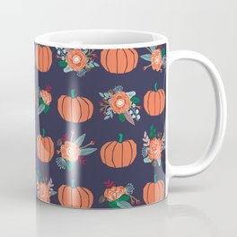Pumpkin florals cute pattern pillow home decor dorm college seasonal fall autumn Coffee Mug