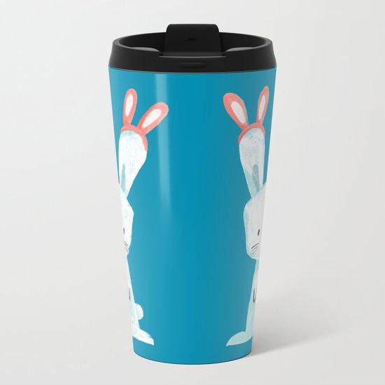Four Eared Bunny Metal Travel Mug