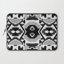 Geometric Aztec - black and white Laptop Sleeve