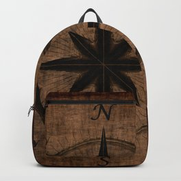 Nostalgic Old Compass Rose Backpack