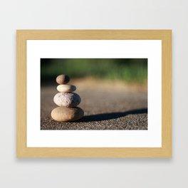 Zen Meditation Stones Framed Art Print