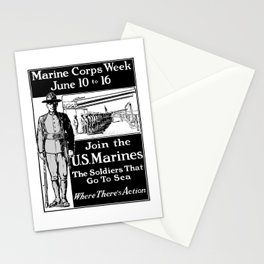 Join The U.S. Marines -- The Soldiers That Go To Sea Stationery Cards