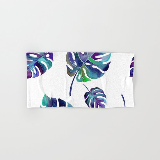 watercolor leaves Hand & Bath Towel