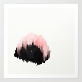 0c21c1cd4c9 pink cities - an abstract painting in millennial pink and black Art Print