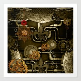 Wonderful noble steampunk design Art Print