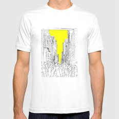 living for the city MEDIUM Mens Fitted Tee White