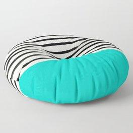 Aqua & Stripes Floor Pillow