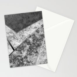 Combined abstract pattern in black and white . Stationery Cards