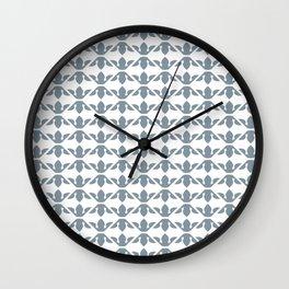 Gray Lillies Wall Clock