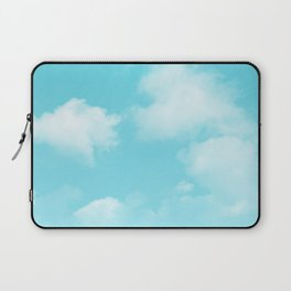 Aqua Blue Clouds Laptop Sleeve