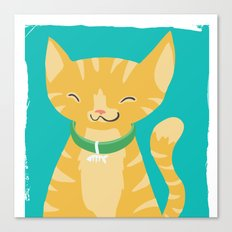 orange kitty Canvas Print