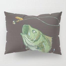 Largemouth Bass Jumping Out Of Water At Night // Spinner lure // Splashing Water // Fish On! Pillow Sham