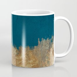 Denim Gold Paint Coffee Mug