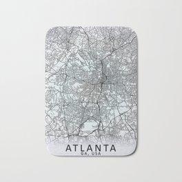 Atlanta, GA, USA White City Map Bath Mat