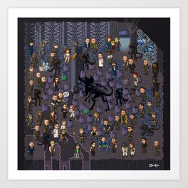 Super Aliens³ Resurrection Art Print