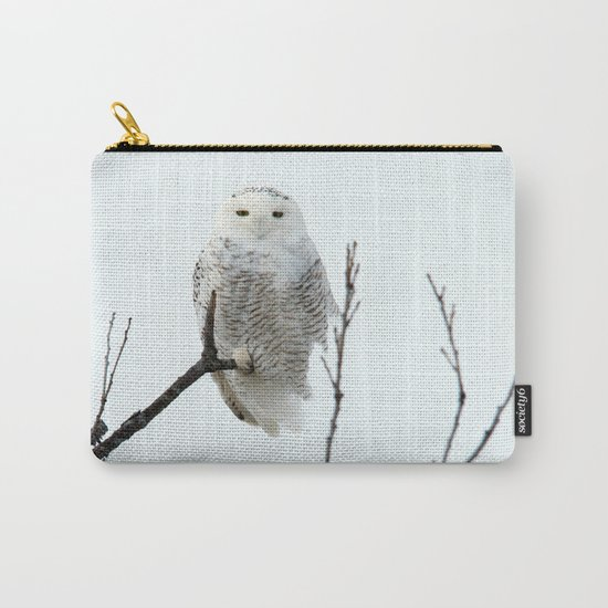 Snowy in the Wind (Snowy Owl) Carry-All Pouch