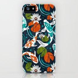 Koi Pond - Orange iPhone Case