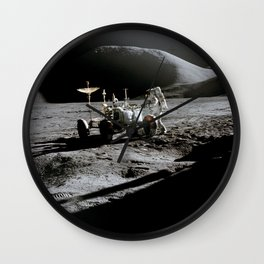 Apollo 15 - Moonwalk 1971 Wall Clock