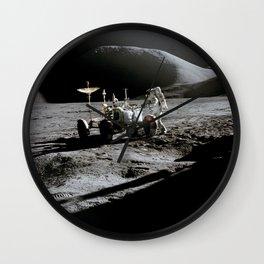 Apollo 15 - Moonwalk 1971 Wall Clock