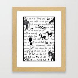 Animal party Framed Art Print