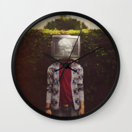 This TV haze sucks me through. I watch the world from the inside Wall Clock