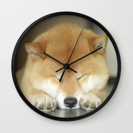 sleeping macho Wall Clock