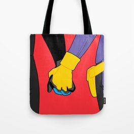 Hand Holding in Gotham Tote Bag