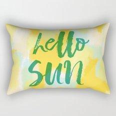 Hello Sun - Sunny yellow abstract Rectangular Pillow