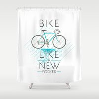 bike Shower Curtains featuring bike by CLOD