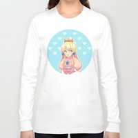 princess peach Long Sleeve T-shirts featuring peach by madammonkey