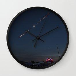 2017 Total Solar Eclipse 2 Wall Clock