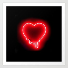 Heart (Neon-Red Edition) Art Print