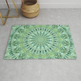 Mary Jane Mandala (green) Rug