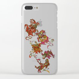 Tanged Veiltail Rainbow Clear iPhone Case