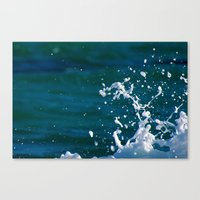 salt water Canvas Prints featuring Salt Water by Diana Chan