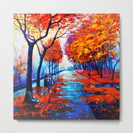 Tardis Art Tree Blossom Metal Print