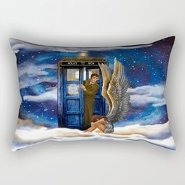 10th Doctor Who with Crying AngeL iPhone 4 4s 5 5s 5c, ipod, ipad, pillow case and tshirt Rectangular Pillow