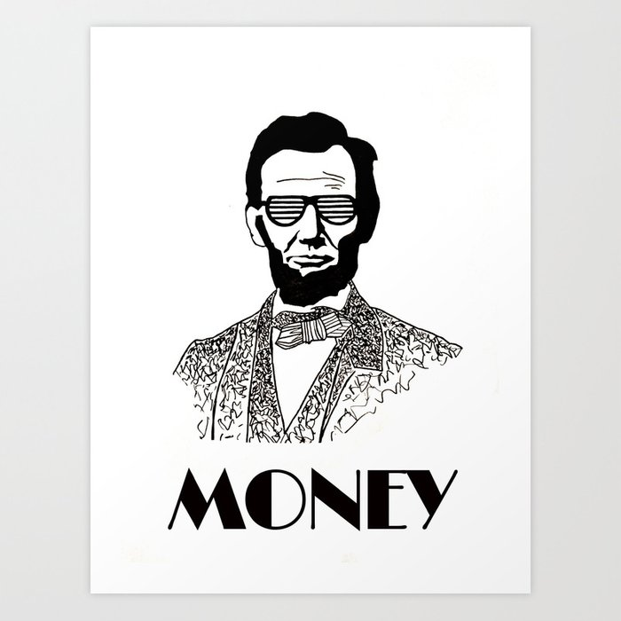 photograph relating to Printable Pictures of Abraham Lincoln named Abraham Lincoln is Economical Artwork Print through girllikethesea
