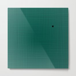 Green and Black Grid - Something's missing Metal Print