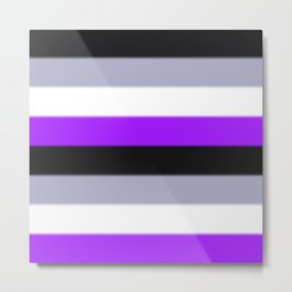 Asexual Pride Flag v2 Metal Print