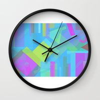 fifth element Wall Clocks featuring Element by Mariana Lisina