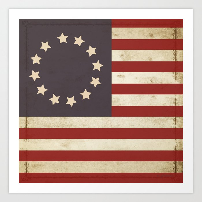 image regarding Betsy Ross Printable Pictures named Betsy Ross Flag Artwork Print