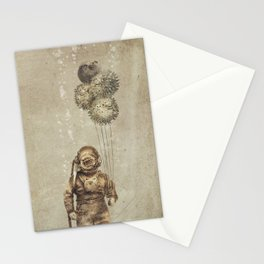 Balloon Fish (Sepia) Stationery Cards