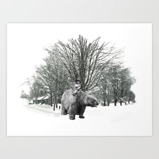 Little Billy's Polar Playtime Art Print