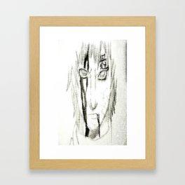 Bloody Sheared Gaara Framed Art Print